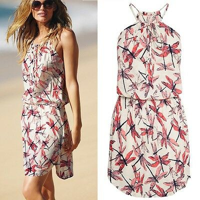 HOT Summer Women Printted Shoulder-straps Beach Boho Maxi Sundress Short Dress