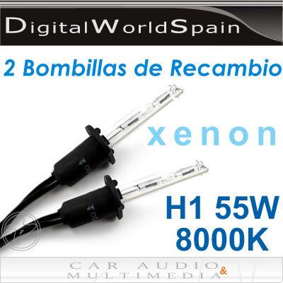 BOMBILLAS XENON H1 8000K 55W VALIDAS PARA 12V Y 24V