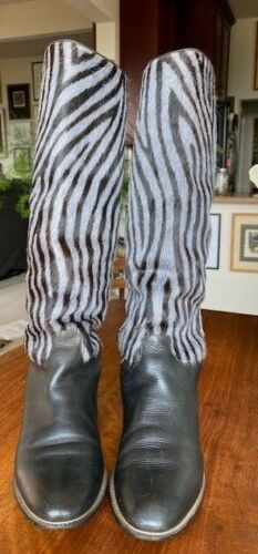 Vintage Maud Frizon Zebra Design Boots - image 1