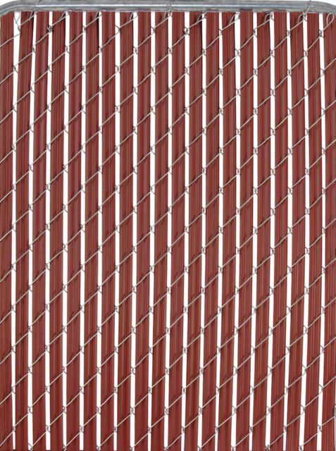 Patrician 4 Ft High Redwood Chain Link Fence Privacy Slat Insert Cover 10 Feet