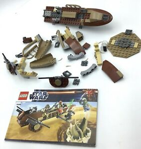LEGO-Star-Wars-9496-Desert-Skiff-RARE-RETIRED-INCOMPLETE-SET-NO-MINIFIGURES