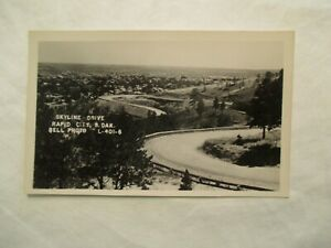 Rppc Skyline Drive Rapid City South Dakota Sd Real Photo Postcard Ebay