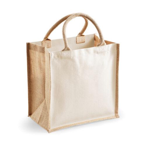 W421 Westford Mill Printers Midi Jute Tote Shopping Cotton Handbags