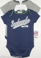 Nfl Infant Onesie-set Of 2- Seattle Seahawks 0-3 Months