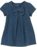 Gymboree We Have Arrived Blue Textured Knit Dress Size 3-6 Months