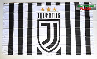 Juventus Flag Banner Italy Soccer 3x5 Football Soccer Calcio Black Gold Premium
