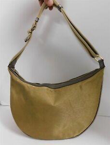 Gucci Metallic Canvas Leather Striped Strap Hobo Shoulder Bag