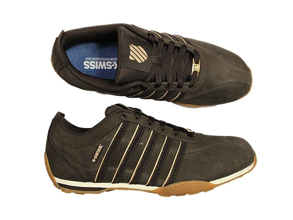 Zapatillas para hombre Kswiss Arvee Casual Marrón Zapatos Con Cordones De Cuero Tenis
