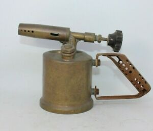 Express-unis-39-Vintage-brass-blow-lamp-torch-antique