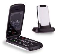 TTfone Star Big Button Simple Easy Clamshell Flip Sim Free Mobile Phone - White