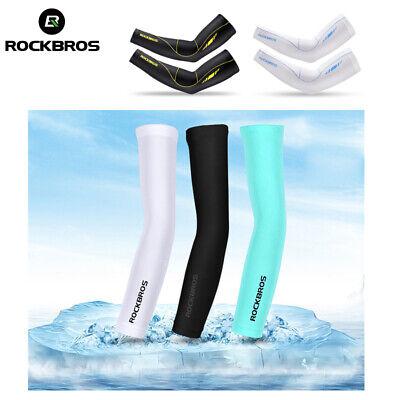 RockBros Cycling Summer Ice Silk Arm Warmers Covers Sun Protection Oversleeve