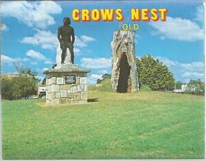 FOLD OUT VIEWS OF CROWS NEST QLD POSTCARD
