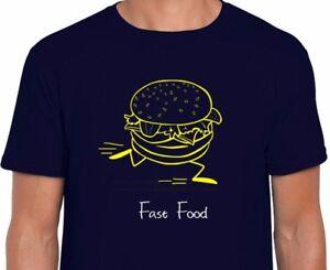 Comida-rapida-Divertido-Novedad-Hamburguesa-Camiseta-Regalo-de-Cumpleanos-alimentos-saludables