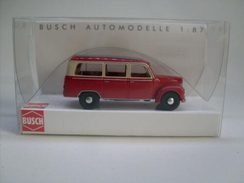 framo v901//2 autobús rojo Busch 51250 h0 coche modelo 1:87