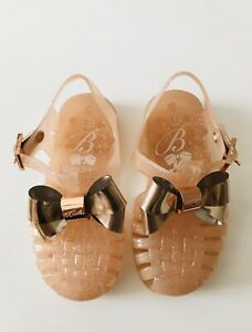 Ted Baker gold bow jelly sandals shoe