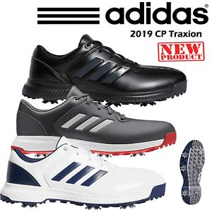 pretty nice 7cc21 1ce52 Dettagli su Adidas CP Traxion Scarpe da Golf Uomo Tutte le Misure  Impermeabile Nuovo 2019