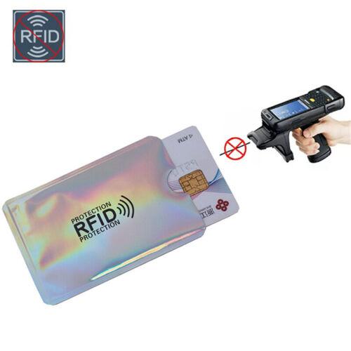 10pcs RFID Blocking Sleeve Credit Card Protector Bank Card Holder for Wallets