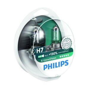 2-Bombillas-PHILIPS-X-treme-Vision-H7-Halogena-Moto-Coche-Lampara-NUEVO