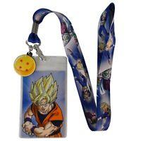 Dragon Ball Z Goku 4 Star Ball Licensed Lanyard Neck Strap Id With Charm on Sale