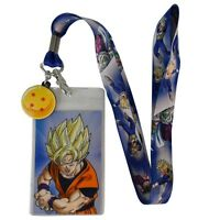 Dragon Ball Z Goku 4 Star Ball Licensed Lanyard Neck Strap Id With Charm