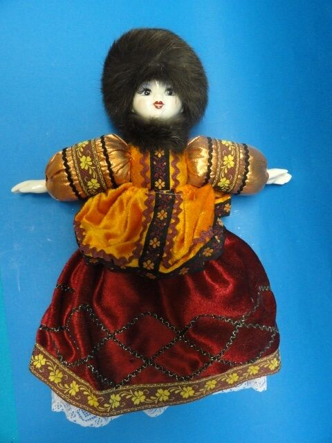 Muñeca Rusa Con visón Sombrero  Fabuloso  14