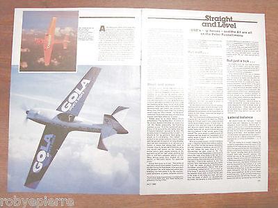Attivo Pubblicità Articolo 1989 Gola Sports Shoes Cranfield Peter Russell Obe's Aereo Beneficiale Per Lo Sperma