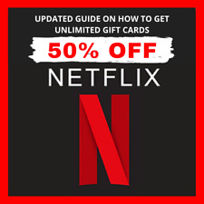 🔥🔥UPDATED GUIDE🔥🔥 Get Netflix Gift Cards UP To 40-60% Off Discounted