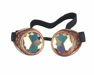 Hotest Sale! Retro Vintage Victorian Steampunk Kaleidoscope Goggles Glasses Punk