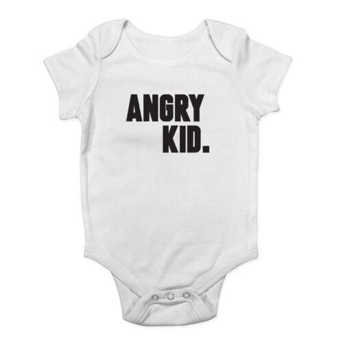 Angry Kid Boys Girls Vest Baby Grow