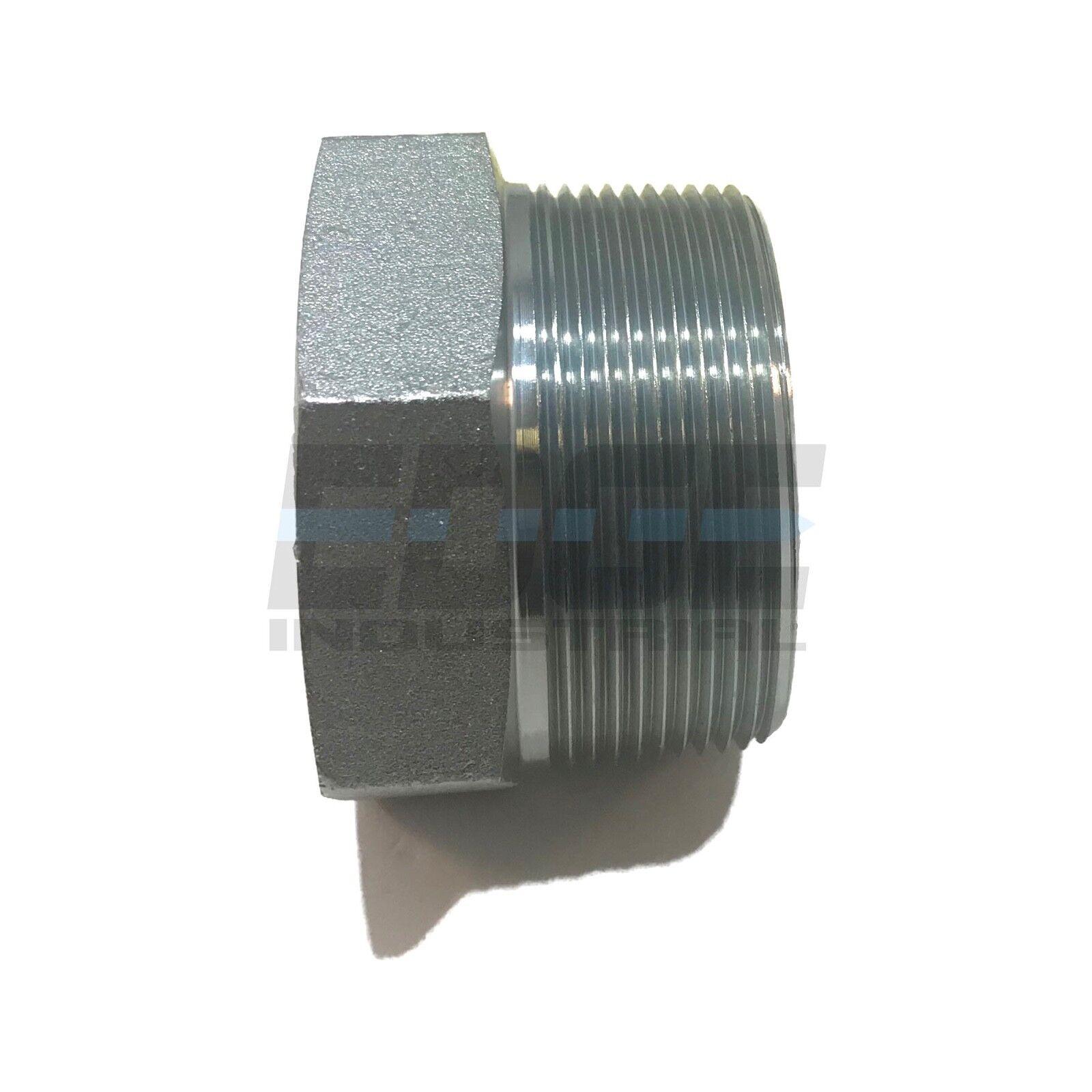 STEEL REDUCING HEX BUSHING 2  MNPT x 1-1 2  FNPT HYDRUALIC FUEL AIR WOG