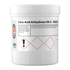Citric Acid Anhydrous 99.5 - 100.5% Crystals BP, USP,FCC 250g 5060405298612