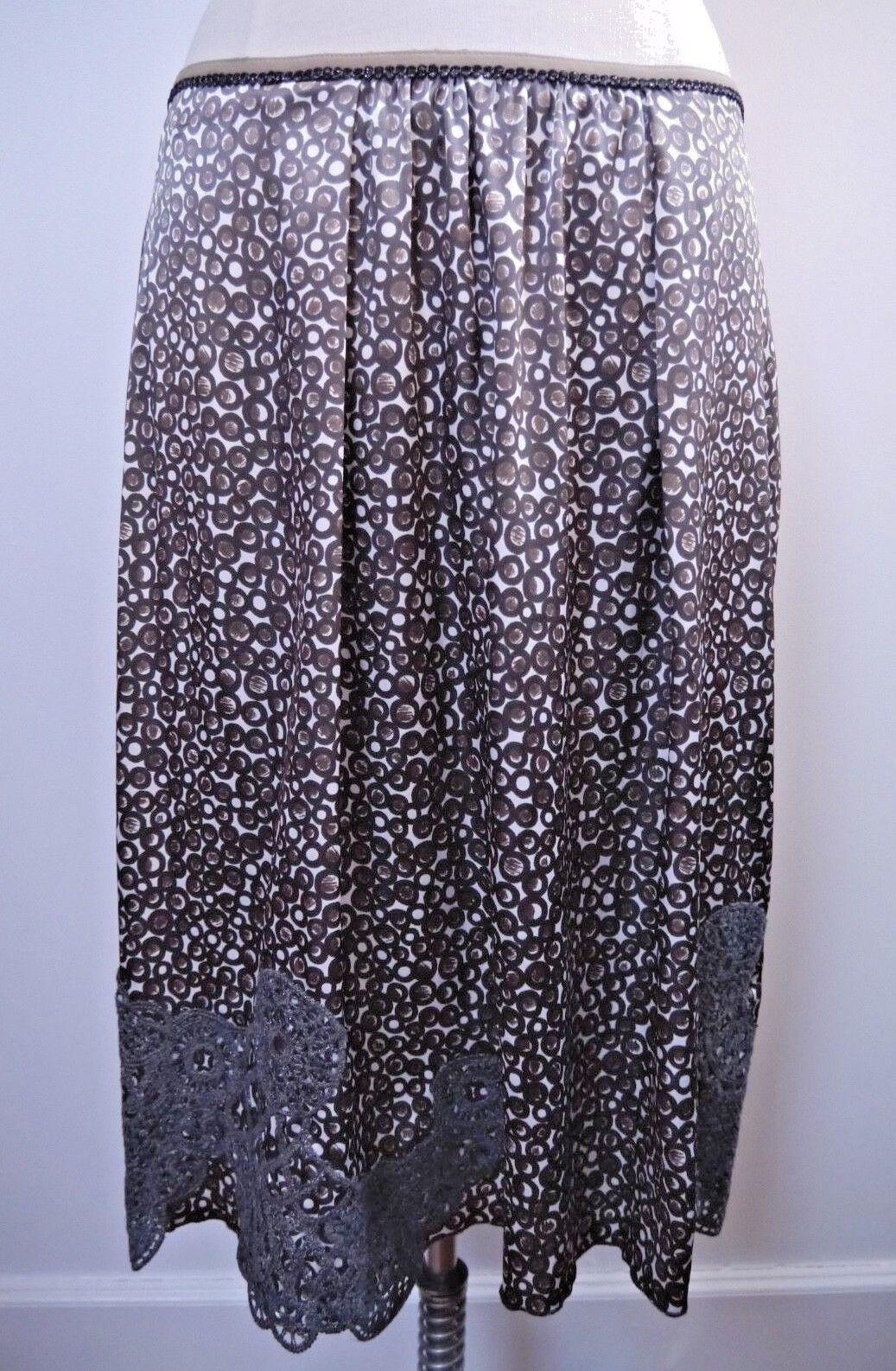 NEW SCHUMACHER print skirt with lace appliqué details Größe L