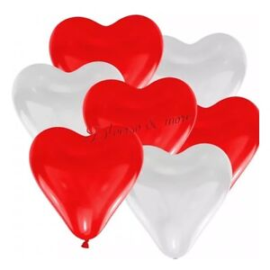Herz Luftballons Ø 30 cm pink 50 Stück Herzballon Heliumballon Hochzeit Ballons
