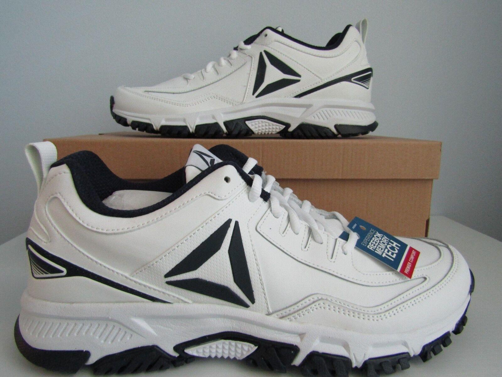 La reebok ridgerider Uomo scarpe bianche pelle nuova dimensione 13 marina marina 13 ff2c97