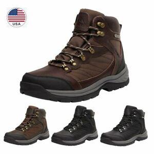 Men's Waterproof Hiking Boots Mid Ankle Hiker Mountaineering Trekking Work Boots