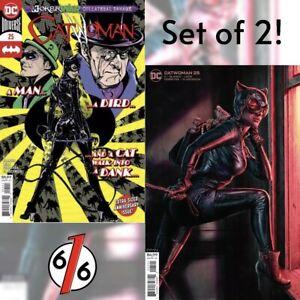 CATWOMAN-25-SET-OF-2-Cover-A-Jones-Cover-B-Bermejo-Joker-War-NM