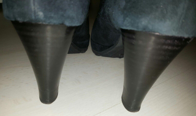 Kämpgen gr. Handmade Ankle Stiefel gr. Kämpgen 41 Leder marineblau tadellos 6d2a02