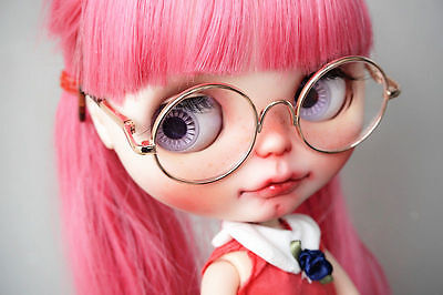 """Gold Glasses Round For 12"""" Neo Blythe Doll G&D Free Shipping"""