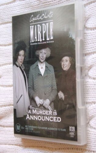 1 of 1 - AGATHA CHRISTIE'S MARPLE: A MURDER IS ANNOUNCED (DVD) R-4, LIKE NEW, FREE POST