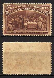 429-Stati-Uniti-5-cents-Esposizione-colombiana-1893-Linguellato-MH