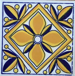 Ceramica vietri inserto serigrafato a mano 10x10 - Piastrelle ceramica vietri ...