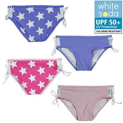 BNWT Girls sz 5 White Soda Brand Swim Pants Bathers Purple White