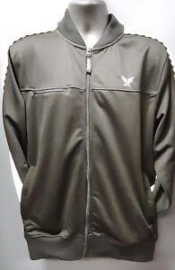 Men-039-s-Born-Fly-Simple-Full-Zip-Track-Jacket-Black-with-White-Stripe
