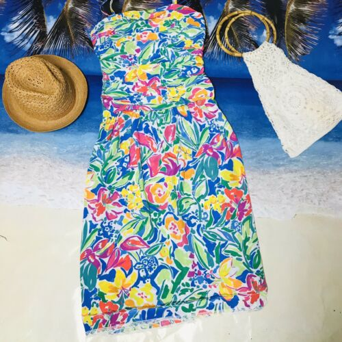 Vintage Malia Honolulu Hawaiian Maxi Dress Med