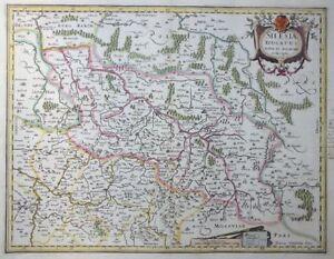Europa Osteuropa Brillant Mercator Hondius Silesiae Ducatus Polen Schlesien Oppeln Krakau GÖrlitz 1633 Schnelle WäRmeableitung