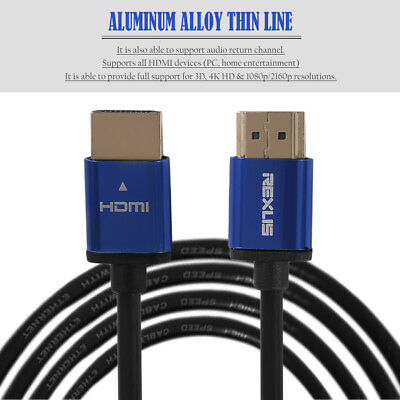 1m/3m/5m/10m Super Long Aluminum Alloy Hdmi Cable Male To Male Hdmi Cable Kn
