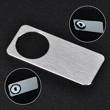 Brushed Aluminium Glove Storage Box Lock Cover Trim for Mercedes BENZ W204 W212