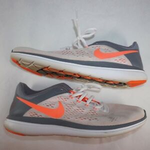 04731923f08a USed Women s NIKE FLEX 2016 RN Running Shoes - White Mango - 830751 ...