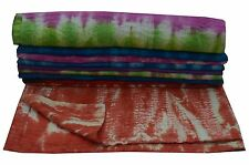 NEW INDIAN REVERSIBLW KANTHA QUILT TWIN SIZE TYE & DYE BEDSPREAD BLNAKET THROW