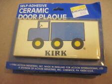 Nib Old Retro Ray Van Self Adhesive Ceramic Door Name Plaque Wall Sign Ebay